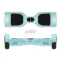 The Tiffany Blue & White Swirls Full-Body Skin Set for the Smart Drifting SuperCharged iiRov HoverBoard
