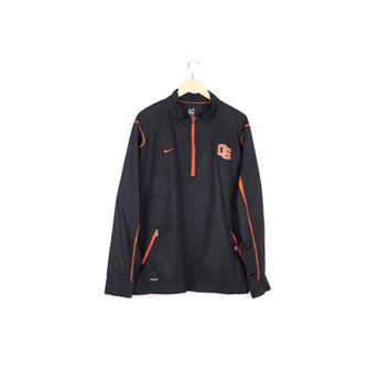 new NIKE STORM-FIT oregon state jacket / osu beavers / performance windbreaker / black windrunner / quarter zip / football / men size large