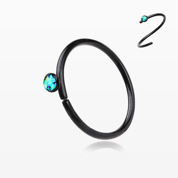 Colorline Opal Sparkle Bendable Steel Nose Hoop