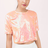 Glitz & Glamour Sequin Crop Top