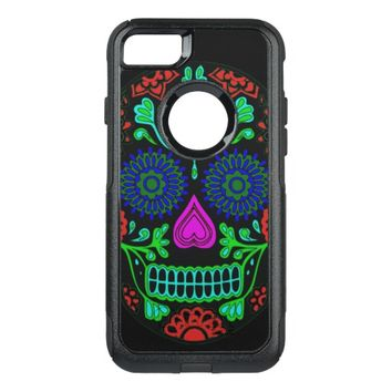 Colorful Sugar Skull OtterBox Commuter iPhone 8/7 Case