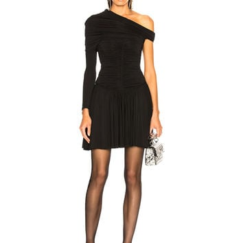 Alexander Wang Rouched Mini Dress in Black | FWRD
