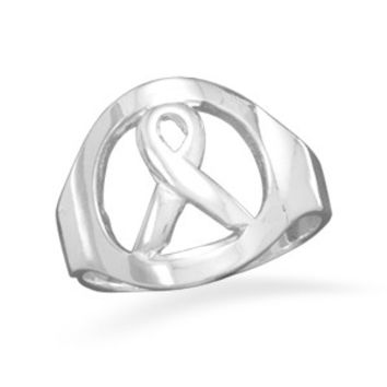 Cancer Awareness Ribbon Ring