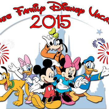 Personalized Disney Vacation Family Shirts T-shirt Mickey Minnie Very Cute! #4