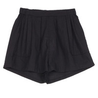 Rittenhouse - ELASTIC WAIST COTTON SHORTS - BLACK EYELET