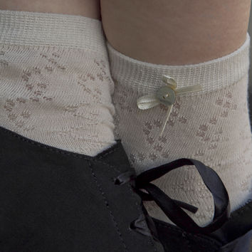 Sock Dreams - Pointelle Bow Anklet