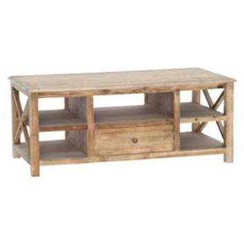 Grayson Coffee Table Gold Leaf with Gray-veined White Marble - Maaya Home