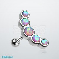 Opal Sparkle Journey Cartilage Tragus Barbell