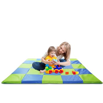 Memory Foam Soft Cushioned Patchwork Baby & Toddler Activity Play Mat