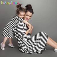 2017 Summer Baby Girls Dress Family Clothing Matching Outfits Fashion Stripe Mother Daughter Dresses Mommy And Me Clothes BC1031