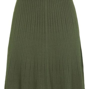 Modern Ribbed Flippy Skirt