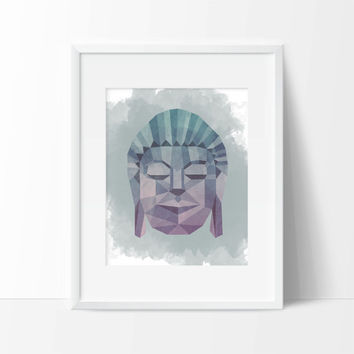 Buddha Geometric Art Print - Home Art - Office Art - Vanity Art