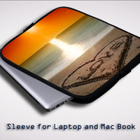 Beach Love Sleeve for Laptop, Macbook Pro, Macbook Air (Twin Sides)