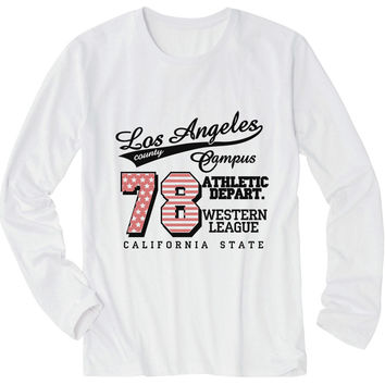 Tシャツ【LA・ロサンゼルス・ロゴ】| Women T-Shirt - Los Angeles Athletic Department Logo