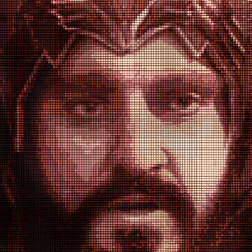 Thorin Oakenshield with Crown Cross Stitch Pattern