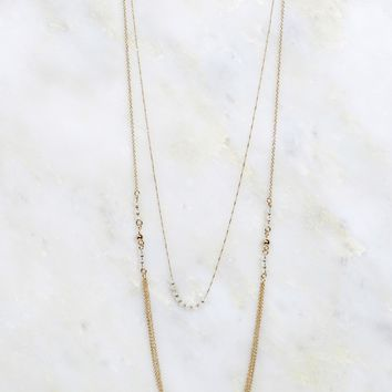 Layered Necklace Blue
