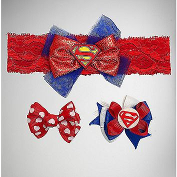 Supergirl Baby Headband Set - Spencer's