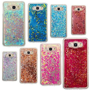 Dynamic Liquid Glitter Sand Quicksand Star Soft TPU Case For Samsung Galaxy J3 J310 J5 J510 J7 J710 Cover Mobile Phone Shell