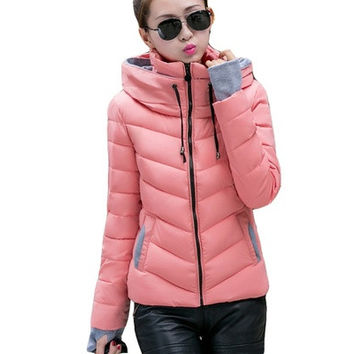 Hot sell women ladies down parkas winter warm solid slim fashion casual clothes outwear coats brand high quality topd new [8833971084]