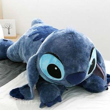 "Disney Stitch Doll 47"" Plush Lying Cushion Girl Lilo and Stitch Toy BRAND NEW"