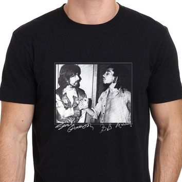 George Harrison and Bob Marley Rare Footage Men's T-Shirt