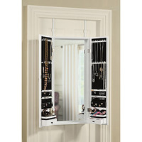 Door Solutions™ Over the Door Tri-Fold Mirror and Jewelry Organizer