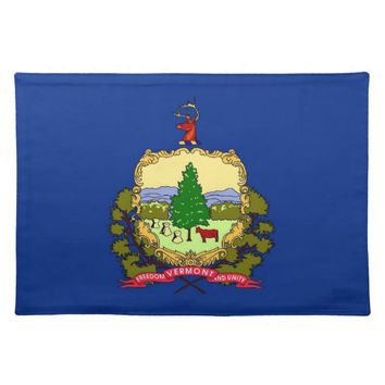 Vermont Flag American MoJo Placemat