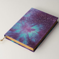 SALE 40% OFF galaxy  - handmade journal, diary, notebook, stars, cosmos, universe