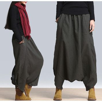 Women's Harem Pants Yoga Festival Baggy Boho Trousers Retro Gypsy Pants