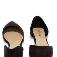Two-Piece Suits Me Black D'Orsay Flats
