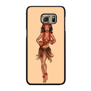 SAILOR JERRY S HULA GIRL Samsung Galaxy S6 Edge Plus Case