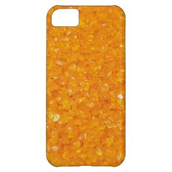 Crushed Orange Ice iPhone 5C Barely There Case