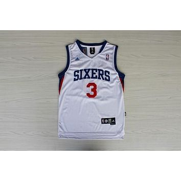 Nba Philadelphia 76ers #3 Allen Iverson White Swingman Jersey | Best Deal Online