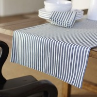 THATCHER TICKING STRIPE TABLE RUNNER