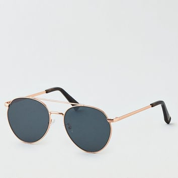 AEO Matte Aviator Sunglasses, Rose Gold