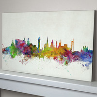 Glasgow City Skyline Print