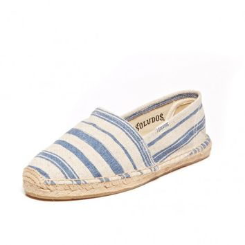 Painted Stripe -Natural Navy Espadrilles for Women from Soludos - Soludos Espadrilles