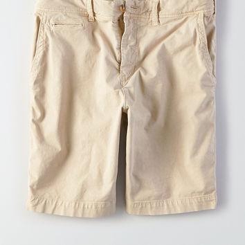 "AEO Extreme Flex Slim 9"" Flat Front Short, Drywall Tan"