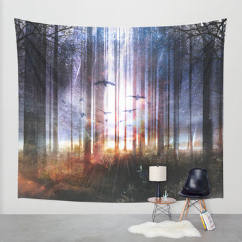 Absinthe forest Wall Tapestry by HappyMelvin