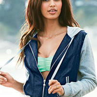 Fleece & Twill Hoodie - Victoria's Secret