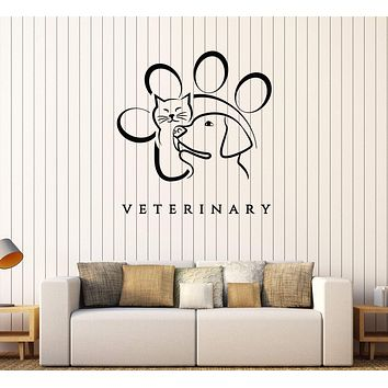 Vinyl Wall Decal Veterinary Medicine Animal Pet Stickers Mural Unique Gift (561ig)