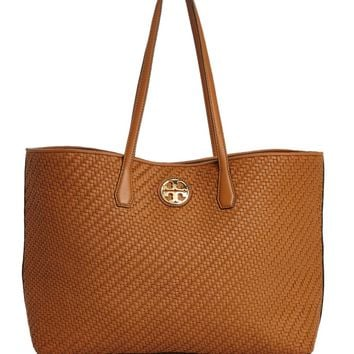 Tory Burch Duet Woven Leather Tote | Bloomingdales's