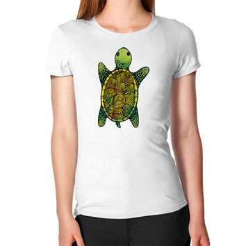 Painted Watercolor Turtle Women's T-Shirt