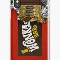 'Wonka Chocolate Bar with Golden ticket' iPhone Case/Skin by Galih Sanjaya Kusuma wiwaha