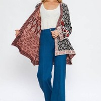 Bell Sleeve Cardigan Sweater