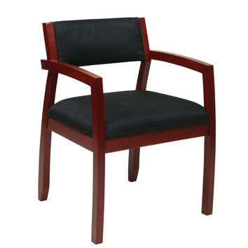 Office Star Cherry Napa Cherry Guest Chair with Upholstered Back