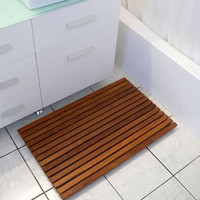 Bathroom and Shower African Teak Wood Mats
