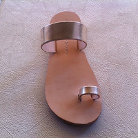 leather sandals , handmade sandal , gold leather , women's sandal ,gifts , greek sandals , women's shoes , doughter sandals , greek sandals