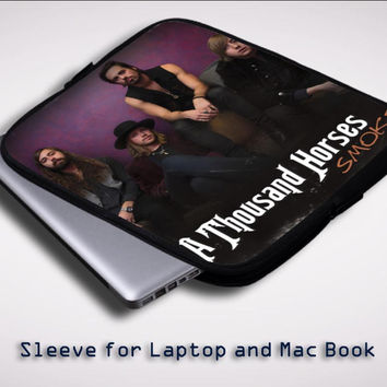 Smoke a thousand horses album cover Sleeve for Laptop, Macbook Pro, Macbook Air (Twin Sides)