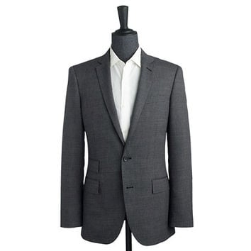 J.Crew Mens Ludlow Suit Jacket In Italian Tick-Weave Wool-Cotton